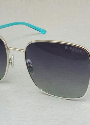 Burberry очки женские солнцезащитные темно серые с градиентом