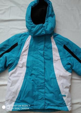 Термо стійка лижна куртка для дівчинки