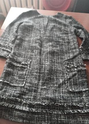 Платье-туника из твида р.s
