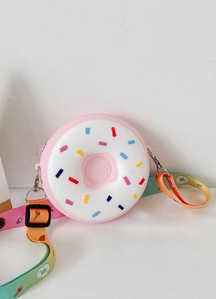 Силиконовая сумочка пончик/ маленькая сумочка кошелёк