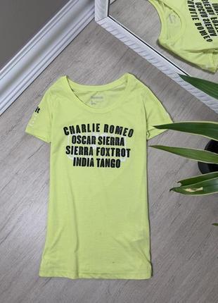 Женская футболка reebok crossfit рибок майка оригинал жёлтая спортивная спорт фитнес