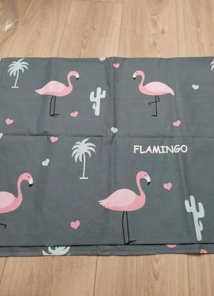 Простынь фламинго в наличии полуторка
