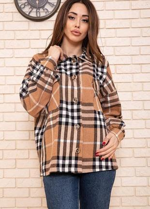 Красива актуальна свобідна рубашка, сорочка в клєтку з кишенями турция