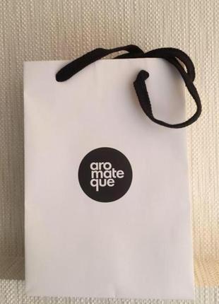 Подарочный фирменный пакет aromateque