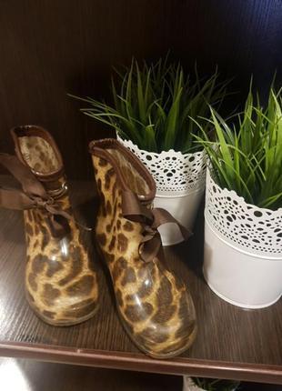 Чобітки в леопардовий принт