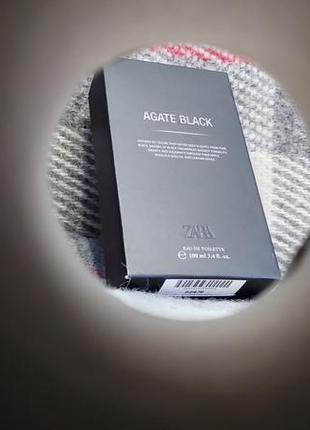 Мужские духи zara agate black чоловічі парфуми зара