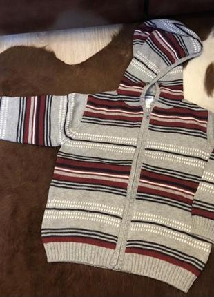 Новая теплая кофта олимпийка свитер на мальчика gymboree на 3 года