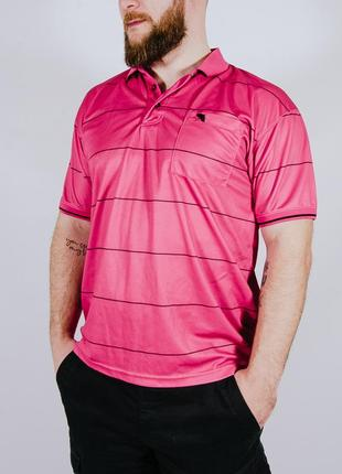 Мужская футболка-поло розовая