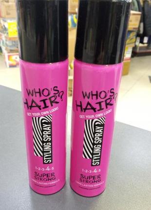Who's hair лак для укладки волос сильная фиксация