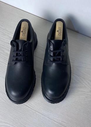 Туфли royal mail черные кожаные