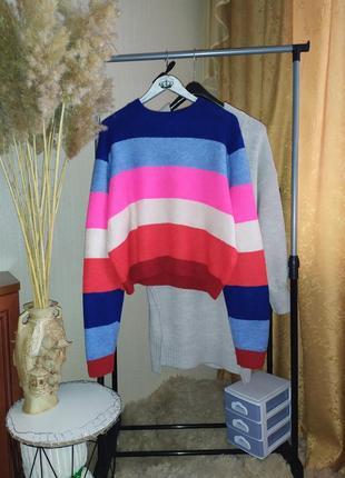 Радужный мягкий свитер primark p l