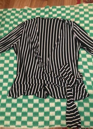 Блузка на запах размер 48-50-52