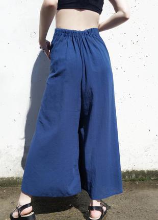 Юбка брюки синего цвета