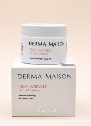 🔝разглаживающий крем против морщин medi-peel derma maison time wrinkle cream 50 ml