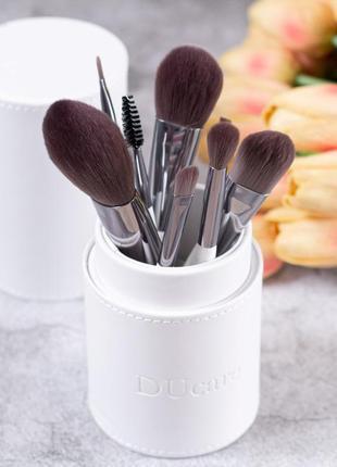 Набор профессиональных кистей для макияжа 8 штук в удобном тубусе для хранения