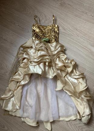 Платье золотое, костюм осень, весна, звезда, золушка
