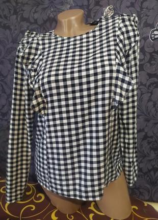 Очень красивая блуза & рубашка в клетку