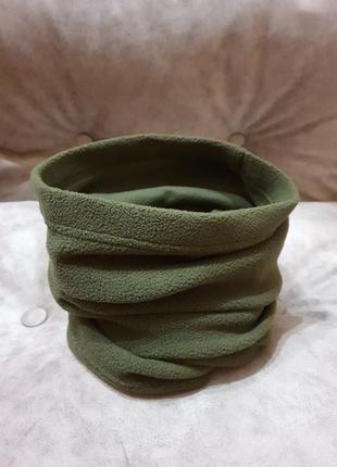 Теплый флисовый шарф-снуд (бафф)