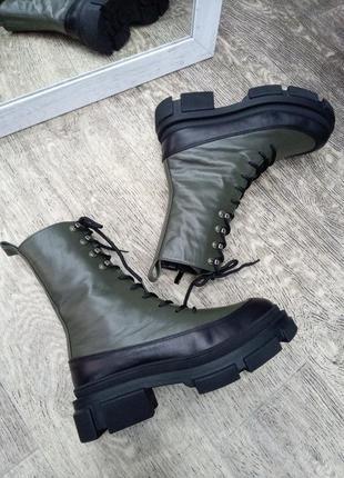 Рр 36 зима натуральная кожа ботинки