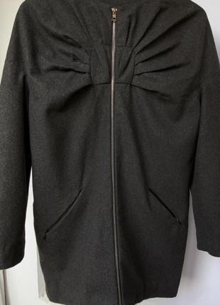 Шерстяное пальто xs от kira plastinina