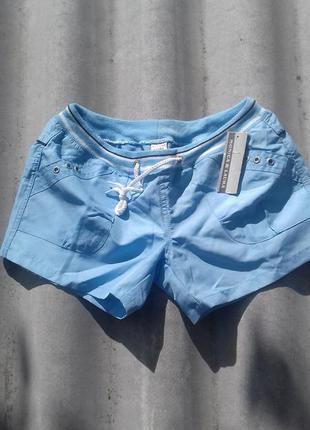 Голубые летние шорты на пляж/для спорта/дома