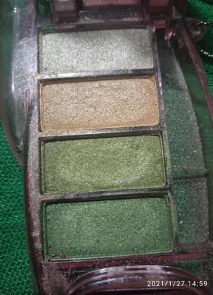 Тени  зелен-золотые - продажа или подарок к покупке