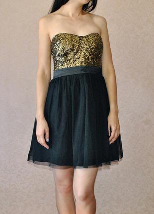 -50% на все платья!!! сказочное, фатиновое платье бюстье lipsy london