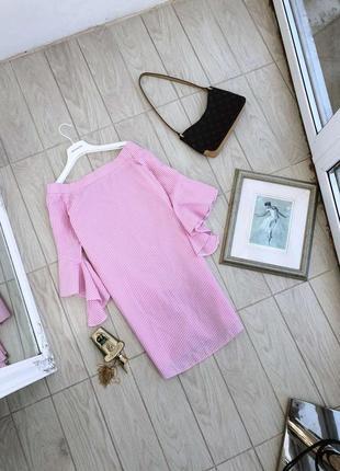Розовое платье коттон river island