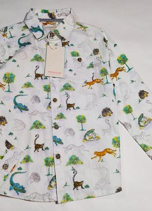 Крутая рубашка monsoon на 7-8 лет, рост 122-128 см