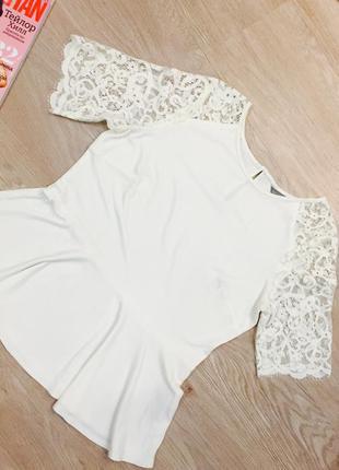 Блуза с баской 100% вискоза marks&spenser 🌹14/42🌹