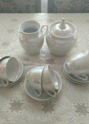 Перламутровый кофейный сервиз