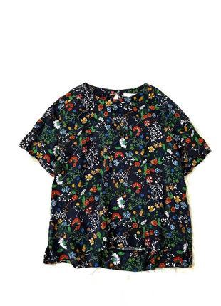 Стильная легкая натуральная блуза оверсайз s/m h&m швеция 🇸🇪
