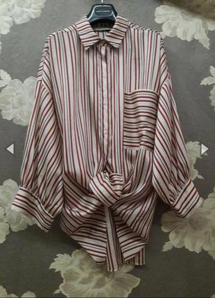 Рубашка/блуза с объёмными рукавами в полоску❤️