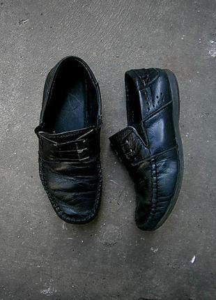 Кожанные туфли макасины размер 31
