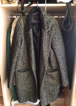 Трендовое пальто-кокон от мирового брэнда promod на одной пуговице
