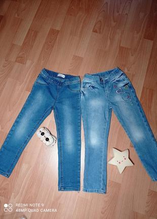 Джинсы на девочку gloria jeans (gee jay) 104 см комплект