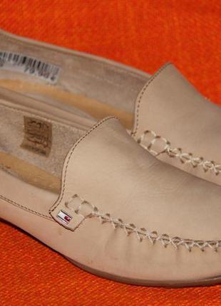 Мокасины, туфли, топсайдеры tommy hilfiger р.40 - 41 стелька 26 см