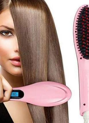Электрорасческа выпрямитель fast hair straightener утюжок для волос(подарочный вариант)