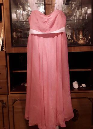 Сарафан в горошек розовый