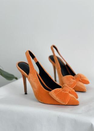 Туфли лодочки с бантом asos