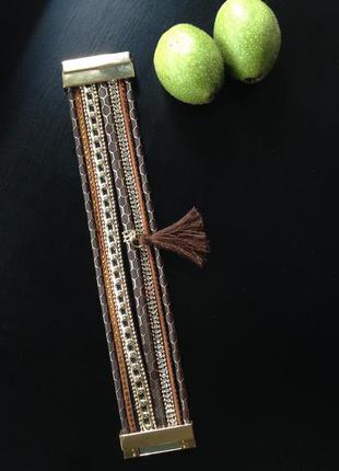 Браслет czech tassels (чешские кисточки)