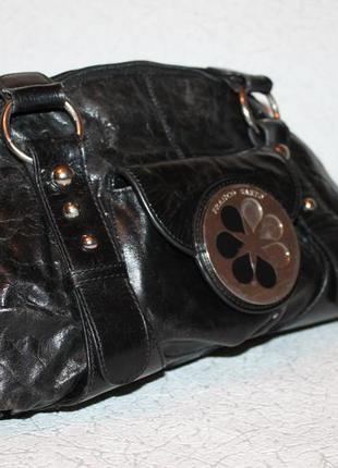 Кожаная сумка саквояж от franco sarto