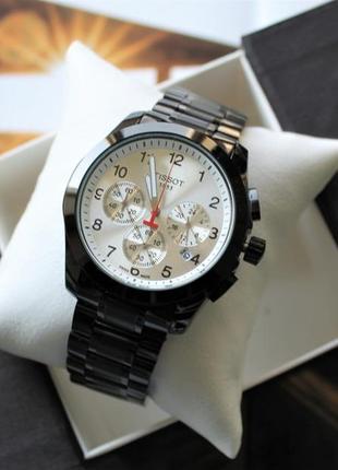 Часы tissot couturier chronograph 42 mm black&white