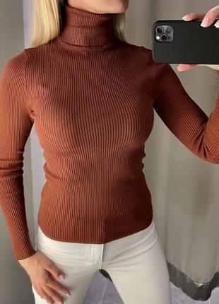 Гольф в рубчик свитер с горлом. amisu. размеры уточняйте.