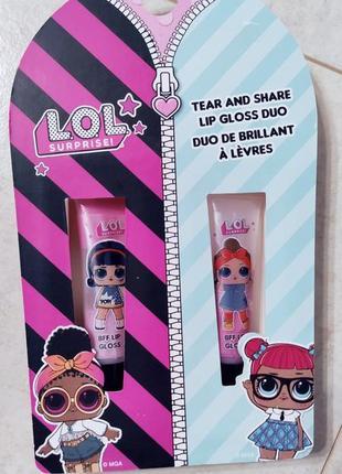 Набор блесков для губ, куколки lol