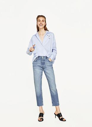 Новые винтажные премиум джинсы с высокой посадкой zara