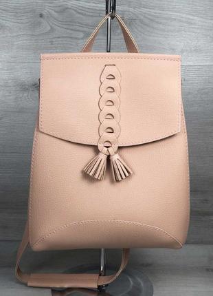 Стильная вместительная сумка-рюкзак, рюкзак пудра,3 цвета