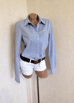 Рубашка/классика/офис/стиль/мелкая полоска/фирма/оригинал //l.o.g.g.h&m ( сток).