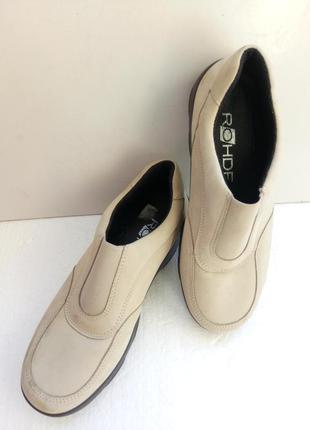 Комфортные туфли из нубука rohde, р. 35,5 - германия