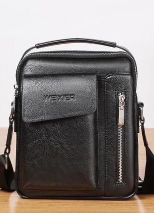 Мужская сумка барсетка через плечо с удобной ручкой weixier
